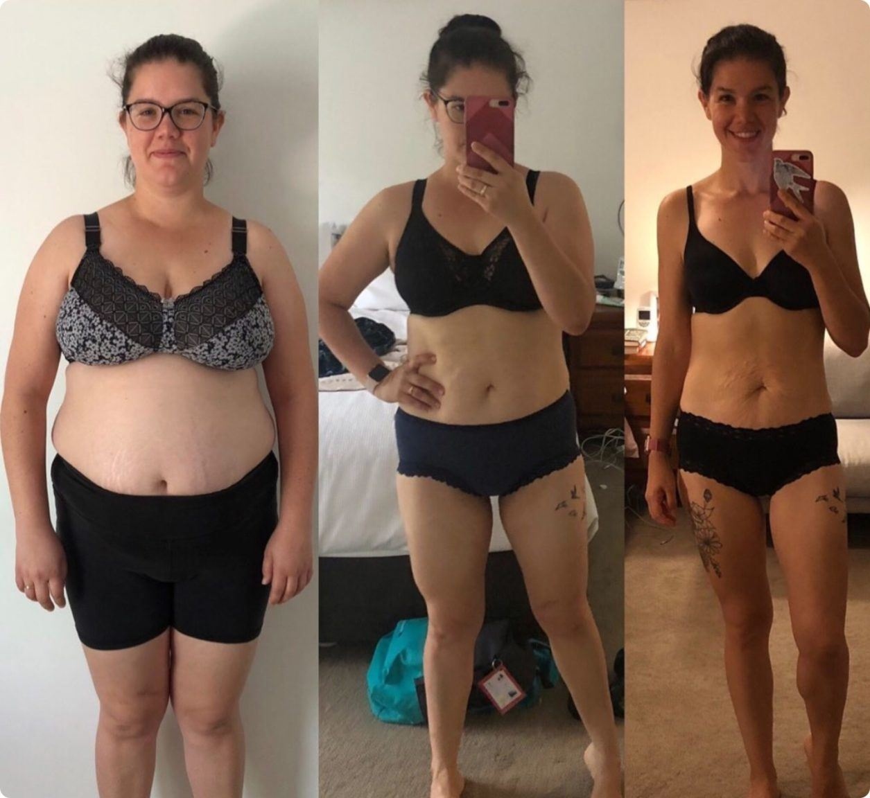 Carly after the 28 By Sam Wood program - she lost 35kg!