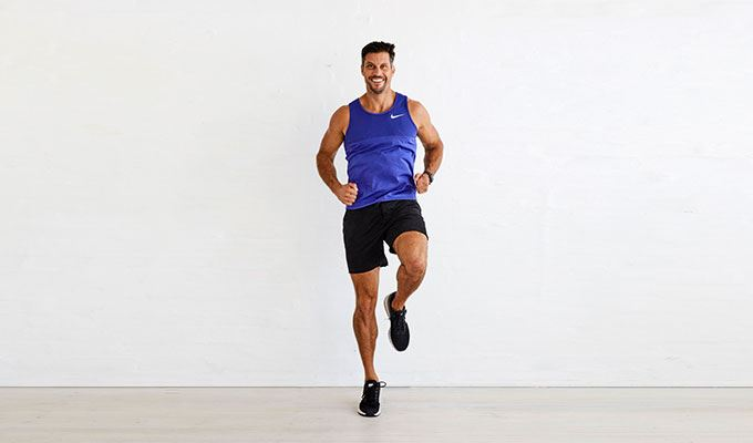 resistance training - running on the spot