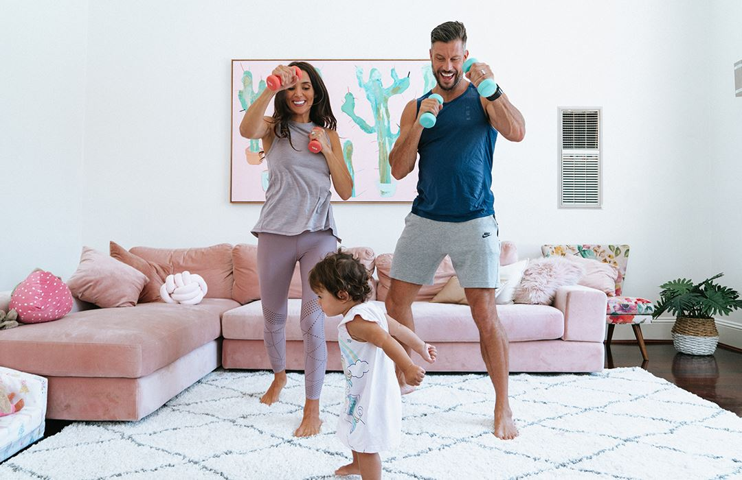 At home exercises with the family