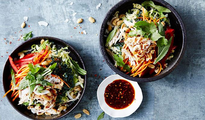Tangled Thai Chicken Salad  - favourite healthy dinners #1