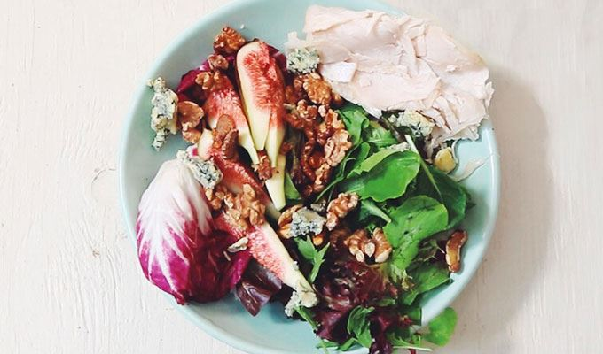 Five Minute Fig Radicchio - favourite healthy dinners #5