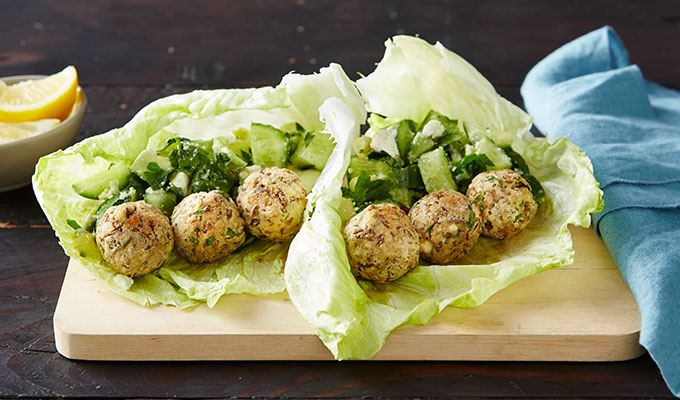 Lentil Meatball Wraps with Avocado and Cucumber Salsa - favourite healthy dinners #9