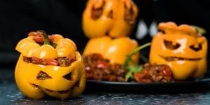 Healthy Halloween Stuffed Jack-O-Lantern Recipe