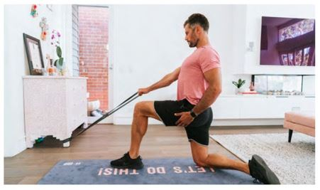 Resistance Band Half Kneel Row - Sam Wood Workout