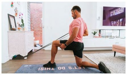 Resistance Band Half Kneel Row (pulling) - Sam Wood Workout