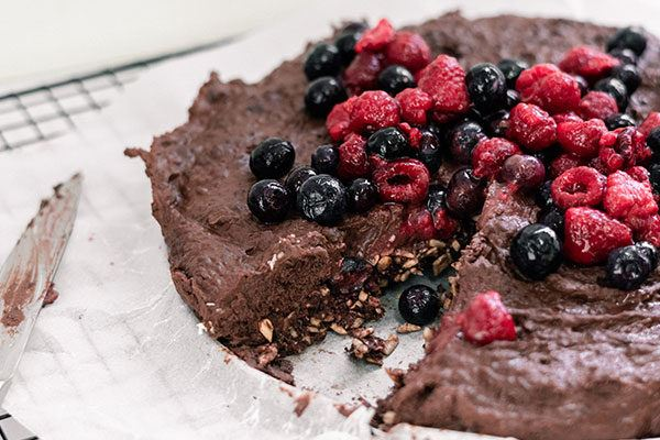 Raw Chocolate Black Bean Cake