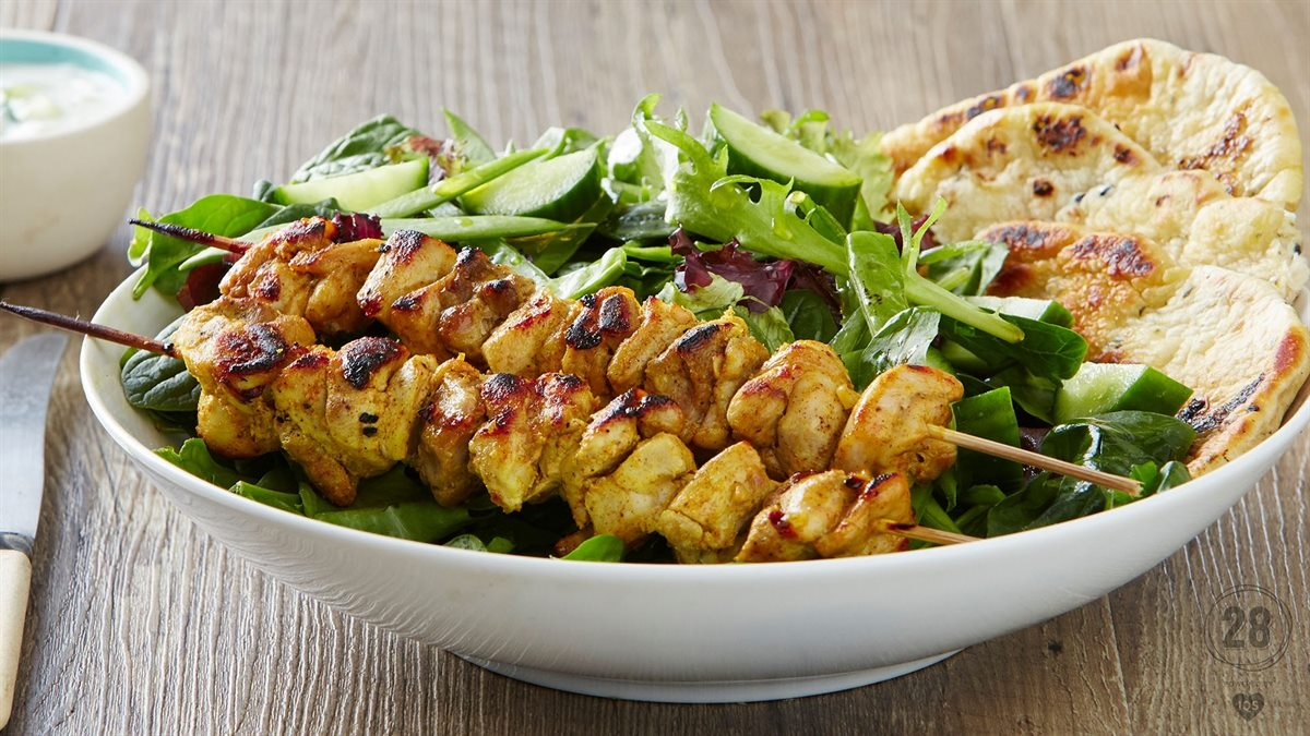 Chicken Tikka Skewers Healthy Lunch Recipe 28 By Sam Wood