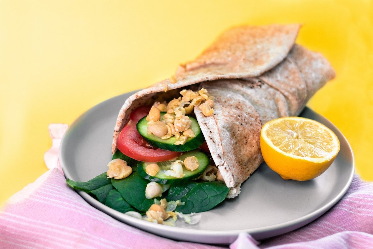 Smashed Chickpea Wrap | 28 By Sam Wood